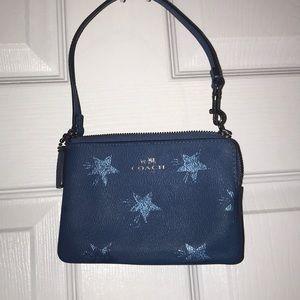 Coach blue with iridescent stars wristlet ⭐️ 🌟 💫